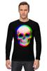 """Лонгслив """"Череп 3D"""" - skull, череп, абстракция, 3d"""