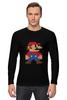 """Лонгслив """"Таблица Супер Марио"""" - игры, nintendo, химия, 8 бит, super mario, супер марио, таблица менделеева"""