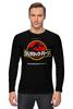 "Лонгслив ""Jurassic Park / Парк Юрского Периода"" - динозавры, иероглифы, парк юрского периода, jurassic park, kinoart"