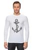 """Лонгслив """"Держись сильнее за якорь"""" - якорь, anchor, sailor, флот, гребенщиков, бг, держись сильнее за якорь"""