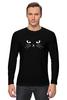 """Лонгслив """"Black Cat (Черная Кошка)"""" - кот, черная кошка, black cat"""
