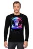 """Лонгслив """"Обезьяна космонавт"""" - космос, абстракция, обезьяна, monkey, космонавт"""