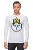 "Лонгслив ""Ice King"" - adventure time, время приключений, пиксельная графика, ice king"