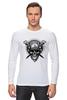 "Лонгслив ""байкерская"" - skull, череп, мото, байкер, motorcycle, biker"