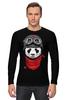 """Лонгслив """"Панда (Panda)"""" - панда, panda, пилот"""