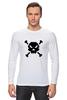 """Лонгслив """"Pixel Art Skull"""" - skull, череп, pixel art, пиксельарт, pixelart, пиксельная графика"""