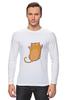 """Лонгслив """"Рыжий кот"""" - кот, cat, рыжий кот, смешной кот"""