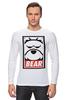 """Лонгслив """"Мишка (Bear, Obey)"""" - bear, медведь, obey"""