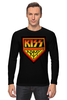 "Лонгслив ""Kiss Army"" - kiss, heavy metal, hard rock, kiss army, шок-рок"