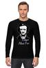 "Лонгслив ""Эдгар Аллан По (Edgar Allan Poe)"" - edgar allan poe, эдгар аллан по, английский, чёрнобелый, ретро"