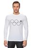 """Лонгслив """"Олимпийские кольца в Сочи 2014"""" - олимпиада, нераскрывшееся олимпийское кольцо, олипийские кольца, сочи-2014"""
