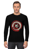 """Лонгслив """"Captain America"""" - комиксы, супергерой, marvel, капитан америка, captain america"""