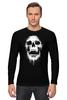 "Лонгслив ""Череп"" - skull, череп, кости"