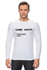 "Лонгслив ""Game Over (8-bit)"" - 8 бит, денди, game over, игра окончена, танчики"