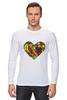 """Лонгслив """"Fruit Heart"""" - heart, фрукты, fruit, вегетарианство, vegan"""