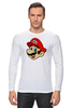 "Лонгслив ""Марио (Mario)"" - nintendo, mario, mario bros, братья марио"
