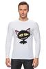 """Лонгслив """"«капризный кот»"""" - кот, животные, рисунок"""