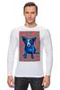 "Лонгслив ""Синий Пес"" - любовь, сердца, собака, синий пес, blue dog"