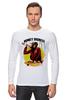 """Лонгслив """"Monkey (Обезьяна)"""" - скейтборд, обезьяна, monkey, skateboard"""
