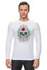 """Лонгслив """"Цветочный череп"""" - skull, череп, арт, цветы"""