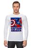 "Лонгслив ""Капитан Америка"" - комиксы, кэп, мстители, марвел, капитан америка"