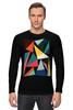 """Лонгслив """"Треугольники"""" - арт, абстракция, фигуры, треугольники"""