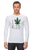 "Лонгслив ""Футболка ""4:20"""" - любовь, арт, cannabis, конопля, марихуана, каннабис"