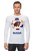 "Лонгслив ""Россия (Russia)"" - патриот, россия, russia, раша"