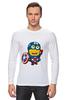 "Лонгслив ""Captain America Minions "" - кэп, мстители, миньоны, капитан америка, captain america"
