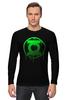 """Лонгслив """"Зеленый Фонарь"""" - комикс, зеленый, зеленый фонарь, фонарь, green lantern"""