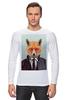 """Лонгслив """"Деловой лис"""" - модно, стильно, лис, fox, лиса"""