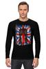 """Лонгслив """"Доктор Кто"""" - доктор кто, uk, британский флаг, тардис, doctor who"""