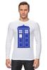 "Лонгслив ""Tardis (Тардис)"" - сериал, doctor who, доктор кто, машина времени, телефонная будка, time machine, phone box"