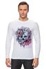 """Лонгслив """"Череп"""" - skull, череп, цветы, roses"""