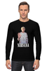 "Лонгслив ""Nirvana Kurt Cobain hello t-shirt"" - гранж, nirvana, kurt cobain, курт кобейн, нирвана"
