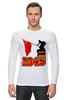 """Лонгслив """"1945 флаг"""" - ссср, победа, георгиевская ленточка, горжусь, помню"""