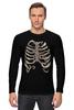 """Лонгслив """"Рёбра"""" - скелет, кости, рёбра"""