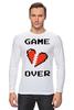 """Лонгслив """"Game Over (Игра Окончена)"""" - пиксель арт, 8 бит, 8-bit, расставание, разбитое сердце"""