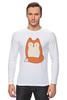 """Лонгслив """"Лисичка (Fox)"""" - fox, лиса, лисичка"""