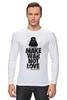 "Лонгслив ""Make war not love by Darth Weider"" - darth, starwars, designministry, joda, weider"