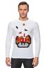 "Лонгслив ""Гриб из Марио (Тетрис)"" - гриб, mario, марио, tetris, тетрис"