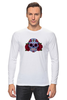 """Лонгслив """"Мексиканский череп"""" - череп, цветы, крест, тату, мексика"""