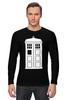 "Лонгслив ""Tardis (Тардис)"" - сериал, doctor who, tardis, доктор кто, машина времени, телефонная будка, time machine, phone box"