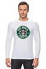 "Лонгслив ""Too Much Coffee"" - пародия, starbucks, старбакс, слишком много кофе"