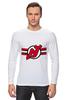 """Лонгслив """"Нью-Джерси Девилс """" - хоккей, nhl, нхл, нью-джерси девилс, new jersey devils"""