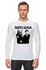"Лонгслив ""nirvana"" - grunge, гранж, nirvana, kurt cobain, курт кобейн, нирвана, альтернативный рок"