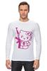 "Лонгслив ""Hello Kitty AK-47"" - hello kitty, ak 47, angry kitty"