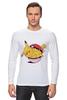 "Лонгслив ""Fat Pikachu"" - pokemon, покемон, пикачу, обжорство"