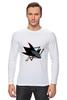 "Лонгслив ""Сан-Хосе Шаркс "" - хоккей, nhl, нхл, san jose sharks, сан-хосе шаркс"