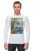 """Лонгслив """"Весенняя рыбалка."""" - весна, пейзаж, рыбалка"""